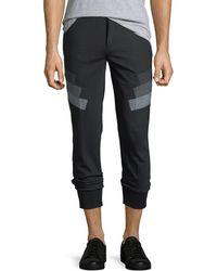 Neil Barrett - Stretch-wool Jogger Pants W/ Military Stripes - Lyst