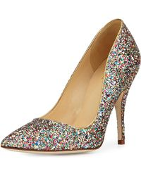 Kate Spade - Licorice Too Glitter Point-toe Pump - Lyst