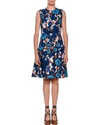 Marni - Sleeveless A-line Floral-print Poplin Dress - Lyst