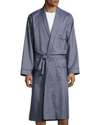 Neiman Marcus - Tweed Robe With Piping - Lyst