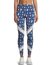 Onzie - Sporty Printed Mesh Performance Leggings - Lyst