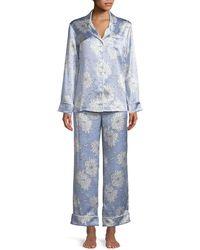 Olivia Von Halle - Lila Kiko Classic Pajama Set - Lyst