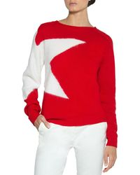 Eleventy - Star Wool-mohair Pullover Sweater - Lyst