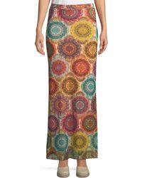 Fuzzi | Kaleidoscope-print Straight Maxi Skirt | Lyst