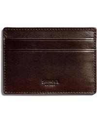 Shinola - Men's Six-pocket Leather Card Case - Lyst