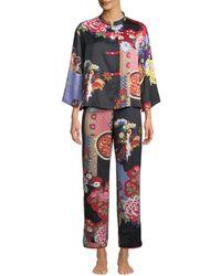 Natori - Mikado Mandarin-collar Pajama Set - Lyst