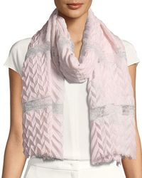 Bindya - Pure Affection Wool-silk Stole - Lyst