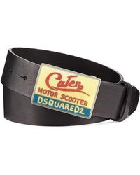 DSquared² - Motor Scooter Leather Belt - Lyst