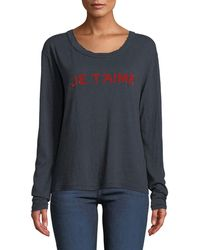 Zadig & Voltaire - Willy Chine Scoop-neck Long-sleeve Tee - Lyst