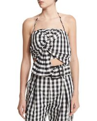 Kendall + Kylie | Knot-front Halter Top | Lyst