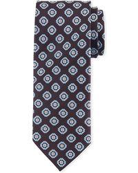 Eton of Sweden - Silk Floral Medallion Tie - Lyst