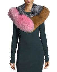 Diane von Furstenberg - Multicolor Fox-fur Shawl - Lyst
