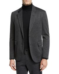 Brioni - Men's Heathered Jersey Two-button Jacket - Lyst