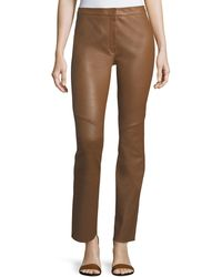 ESCADA - Lakera Leather Slim Pants - Lyst