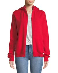 Helmut Lang - Cashmere Zip-front Hooded Sweater - Lyst