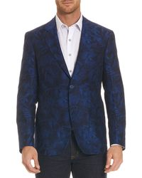 Robert Graham - Buxons Floral-pattern Linen-blend Jacket - Lyst