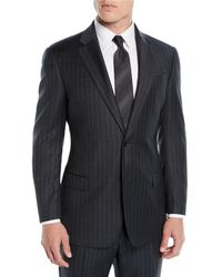 Emporio Armani - Men's Striped Two-piece Wool Suit - Lyst