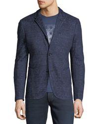 John Varvatos - 4-button Heathered Cotton/linen Jacket - Lyst