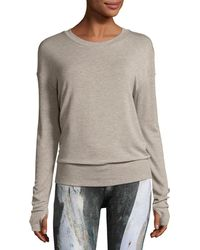 Alo Yoga | Intricate Cutout-back Sport Pullover | Lyst