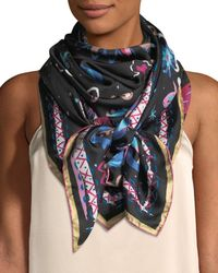 Jane Carr - The Fauve Silk Twill Square Scarf - Lyst