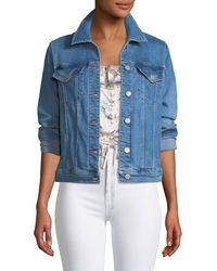 J Brand - Slim Button-front Denim Jacket - Lyst