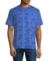 Robert Graham - Men's Embroidered Wave Cotton T-shirt - Lyst