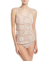 Hanro - Floral Lace Illusion Tank - Lyst