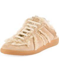 Maison Margiela - Sheepskin Fur Sneaker-style Mule - Lyst
