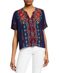 Johnny Was - Ornella Flutter - Sleeve Top - Lyst