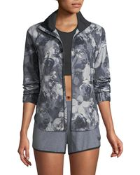 The North Face - Reactor Floral-print Zip-front Jacket - Lyst