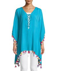 Bindya - Lace-up Tunic With Tassels - Lyst