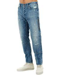 72e05cfb4e4 True Religion Rocco Slim Fit Moto Jeans in Blue for Men - Lyst