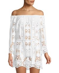 Miguelina - Brigette Embroidered Lace Coverup - Lyst