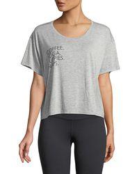 For Better Not Worse - Favorites Boxer T-shirt (heather Grey) Women's T Shirt - Lyst