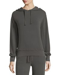Vince - Raw-edge Cotton Hoodie - Lyst