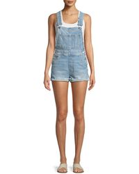 Joe's Jeans - The Short Frayed Denim Overalls - Lyst
