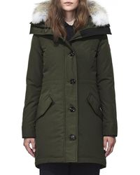 Canada Goose - Rossclair Fur-trim Hooded Down Parka - Lyst