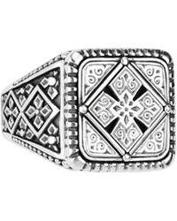 Konstantino - Men's Sterling Silver Classics Signet Ring - Lyst