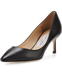 Jimmy Choo - Romy Leather Pointed-toe 60mm Pump - Lyst