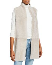 Gushlow and Cole - Reversible Long Shearling Vest - Lyst