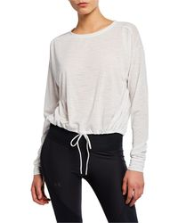 Under Armour Whisperlight Cropped Pullover Top