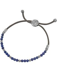 John Hardy - Men's Sterling Silver Classic Chain Beaded Bracelet With Lapis Lazuli - Lyst