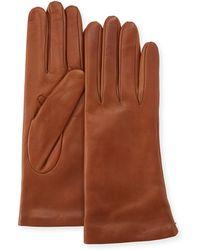 Portolano - Cashmere-lined Napa Leather Gloves - Lyst