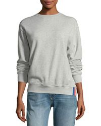 Kule - Raleigh Crewneck Long-sleeve Cotton Sweatshirt - Lyst