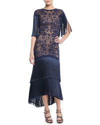 Tadashi Shoji - Frink Corded Lace Capelet Gown - Lyst