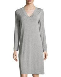 Hanro - Champagne Long-sleeve Nightgown - Lyst
