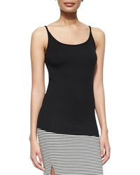 ATM - Long Slim Ribbed Cami - Lyst