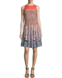 NIC+ZOE - Fiore Sleeveless Printed Twirl Dress - Lyst