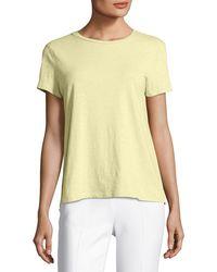 Eileen Fisher - Slubby Organic Cotton Short-sleeve Top - Lyst