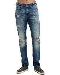 True Religion - Men's Geno Worn Rebel Distressed Jeans - Lyst
